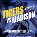 Lady Tigers at Madison Today!
