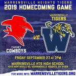 HOMECOMING GAME! Tigers vs. Chaney at 7pm