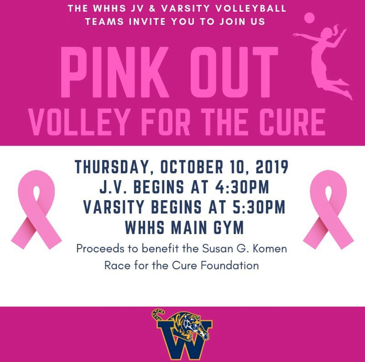 """""""Volley For The Cure"""" vs. Bedford! (Pink Out)"""