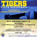 Youth Volleyball starts January 11th!