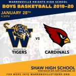 Boys Basketball at Shaw TODAY!