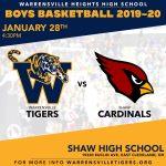 Boys Basketball at Shaw TODAY!