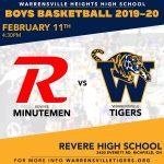 Boys Basketball Travels to Revere