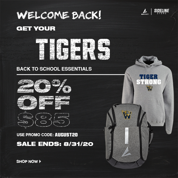 Back to School! Get your Spirit Wear for 20% off!