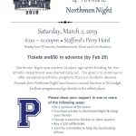 Please join us on March 2nd, 2019 6PM at the Perry Hotel for Northmen Night