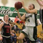 HHS Girls Varsity Basketball Team upsets Gunn 58-56.
