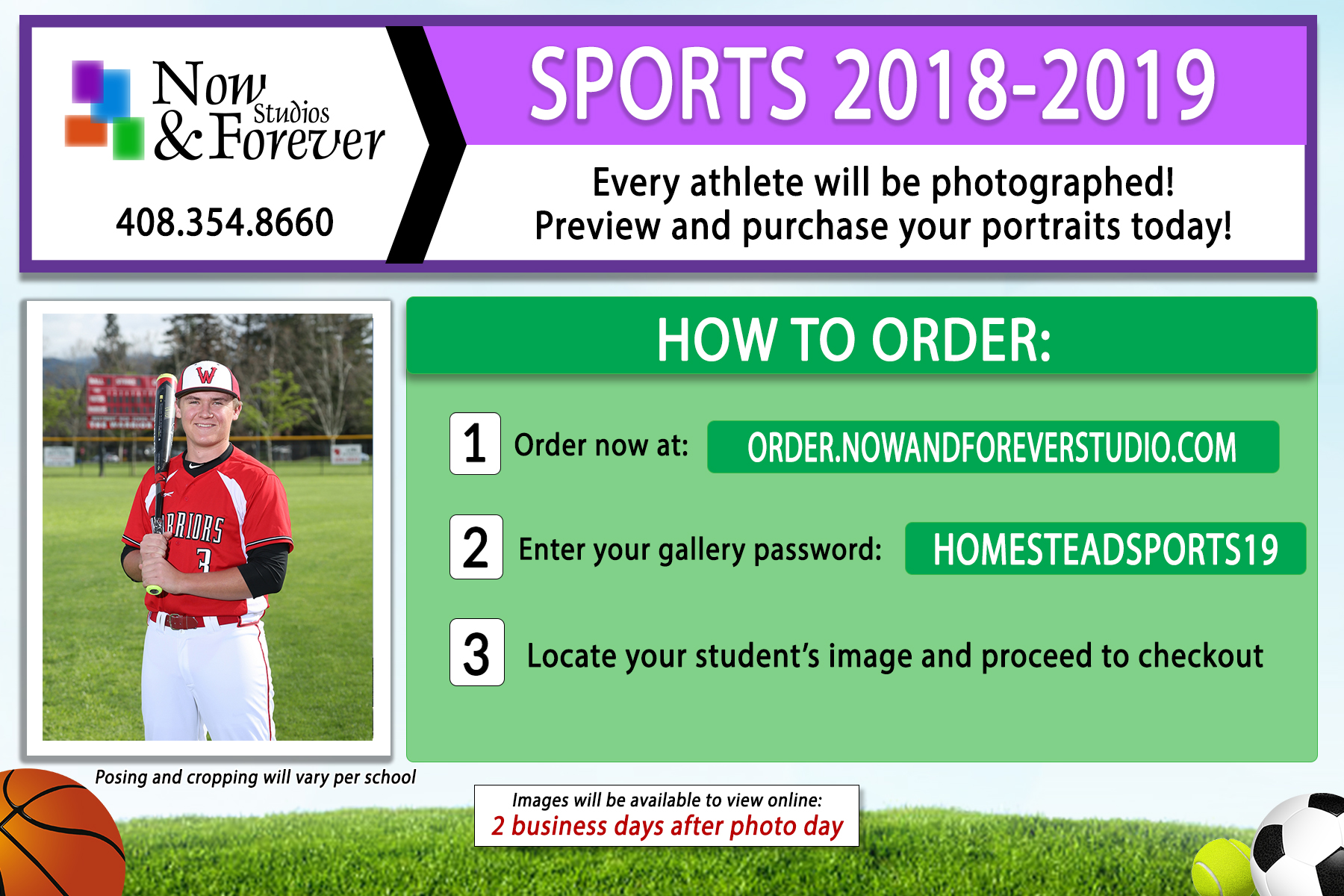 Athletic Team Photos – Ordering Information