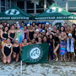 Varsity Girls Swimming Victorious Over Los Altos:- 112-74