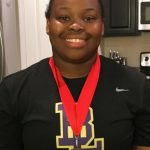 "Ty-Layshia West crushes her own school record with a throw of 42'10"" finishing 2nd at the South Carolina Coach's Classic."