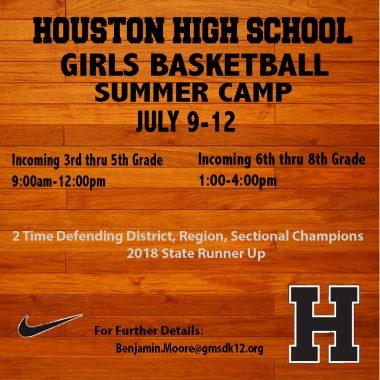 Girls Basketball Summer Camp: July 9-12