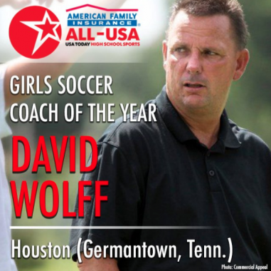 Coach Wolff Named National Coach of The Year By USA Today