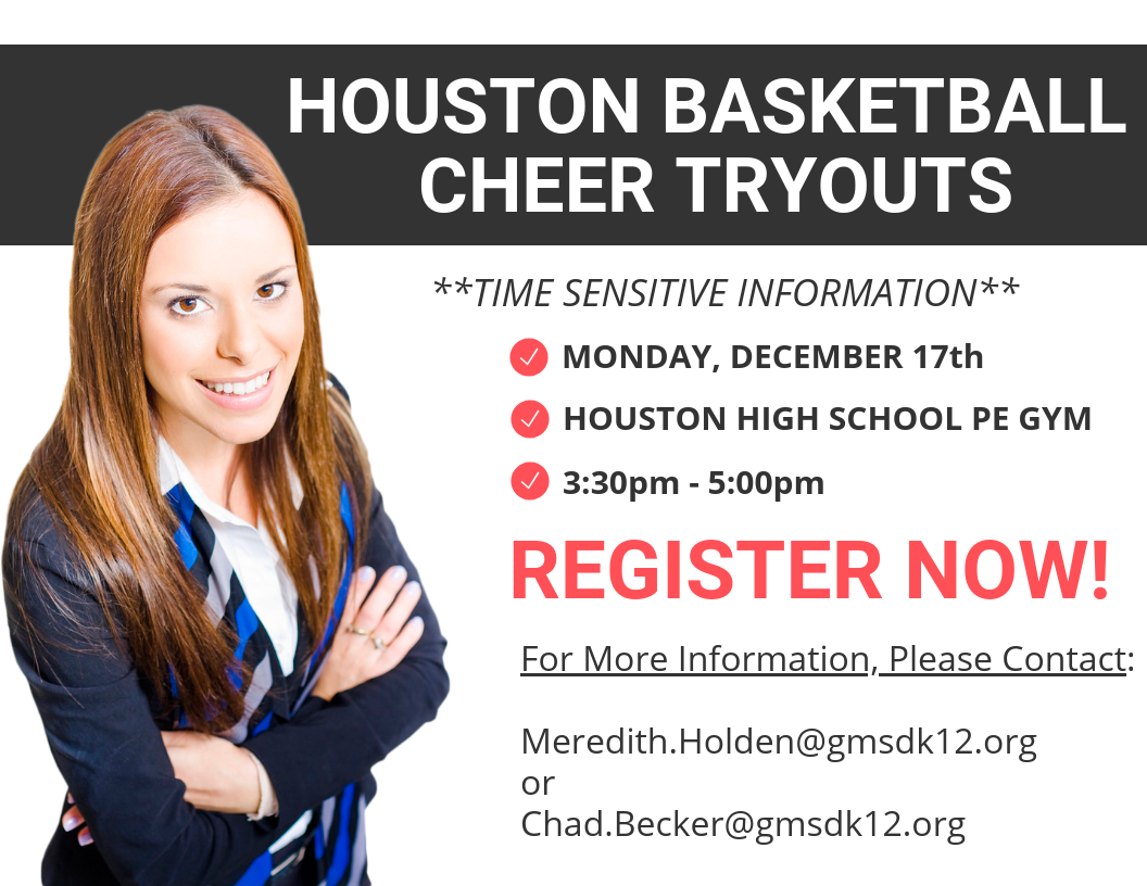 Basketball Cheer Tryouts – Monday, December 17