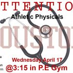 GMSD Sports Physicals Wednesday, April 17 Houston High