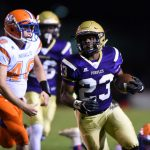 Purples dominate Marshall County 43-14