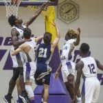 Purples win home opener over Elizabethtown 97-58