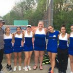 Brown County High School Girls Varsity Tennis beat Bedford North Lawrence High School 3-2