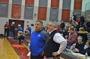 Boys Varsity Basketball Districts vs Oakridge