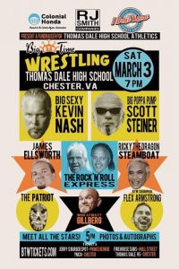 Professional Wrestling Coming to Thomas Dale- March 3