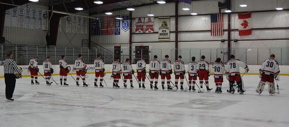 Titan Hockey wins Senior Night