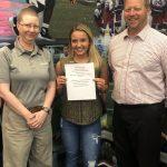 Hines Ward's Positive Athlete Comeback Award given to Shaler's Linsday Buckzowski