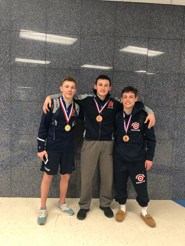 Wrestling Team places three at Burgettstown Tournament