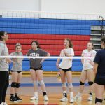 Professional & Three Time All American Juliann Johnson Stops In To Show Titan Volleyball Players Some Pointers