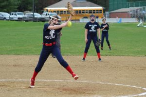 MS Softball Blue vs Woodland Hills 4/17