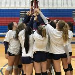 Girls Varsity Volleyball wins their home tournament!
