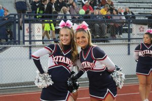 Cheerleaders root the Titans on to Victory vs Armstrong  10/5