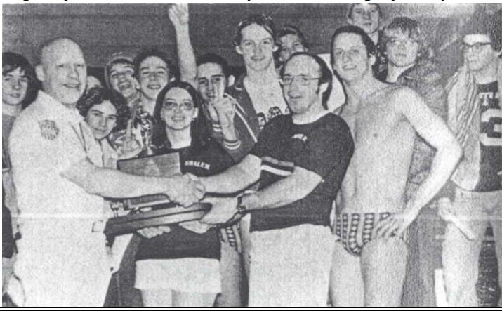 The First Ever – 1977 Shaler Area State Champion Boys Swim Team