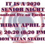Titan Spring Athletes Senior Night April 24 Virtually