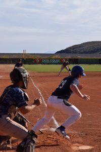 Baseball player running.