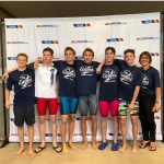 Group photo of the boy's swimmers.