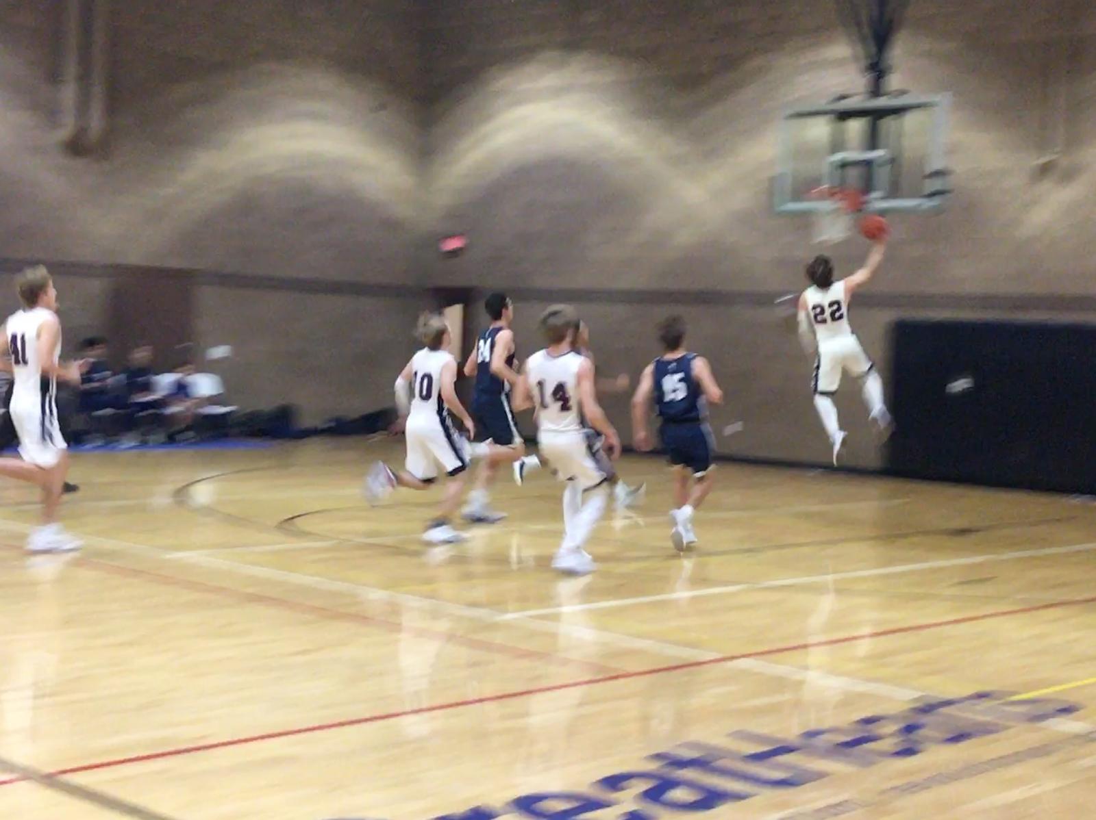 Boys Varsity Basketball beats North Valley Christian 59 – 49