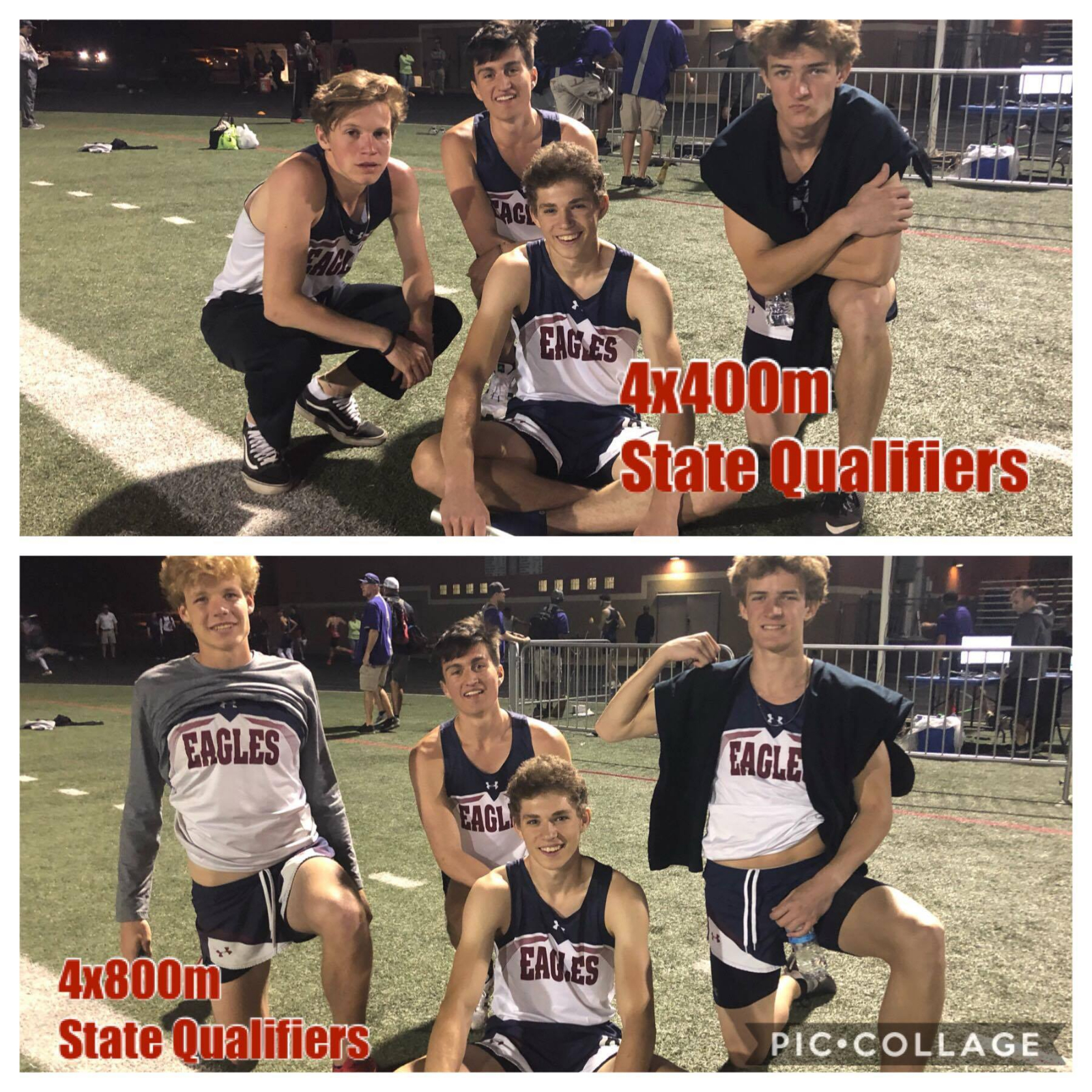 State Qualifying AP High School Boys Relay Teams Lead the Pack!