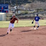 Baseball player running.