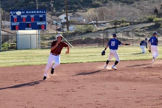 Boys Varsity Baseball beats Bagdad First Time Ever 12 – 7