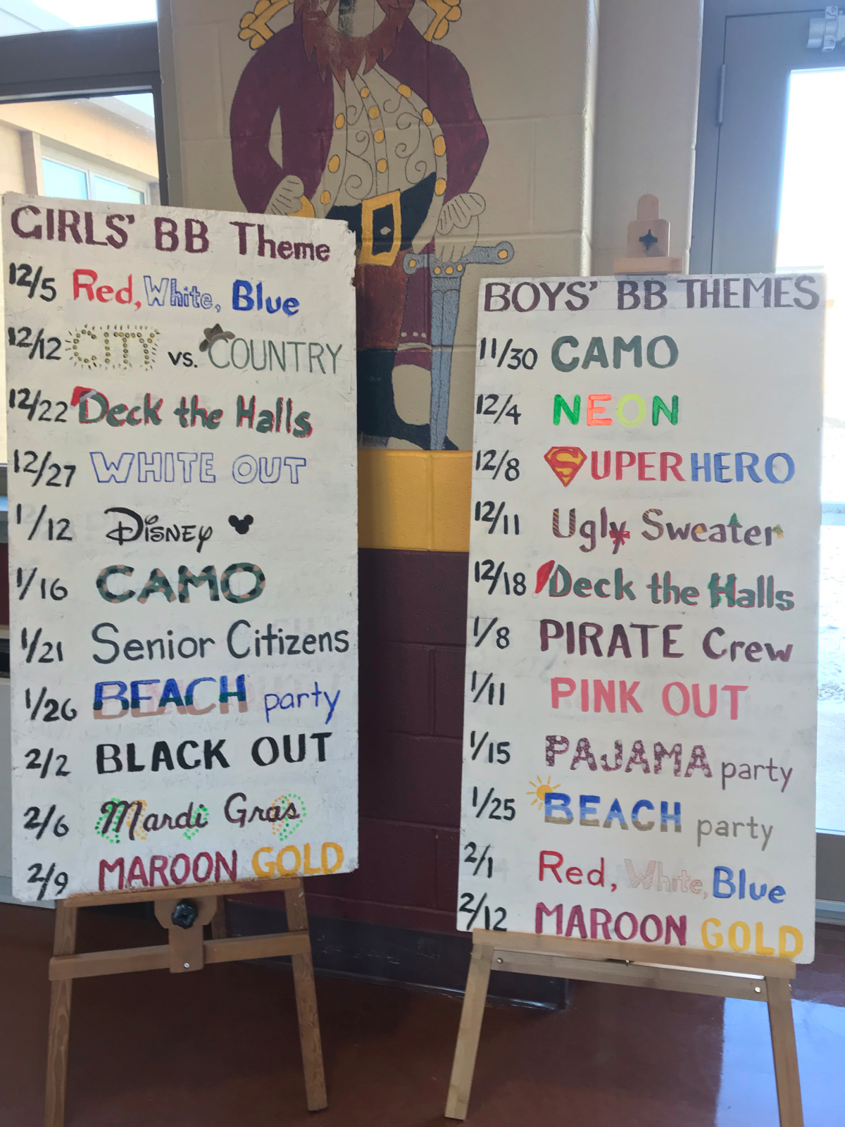 Girls & Boys Spirit Themes for home Basketball Games!