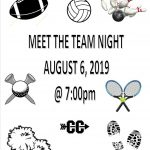 Save the date….Meet the Team Night!! 8.6.2019 @ 7:00 pm