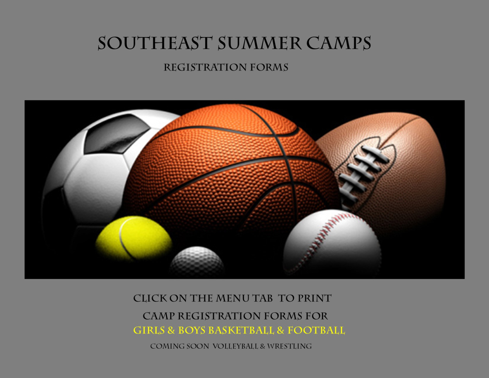 Southeast Summer Camps Registration Forms