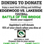 Dining to Donate: Applebees November 1 11am-11pm
