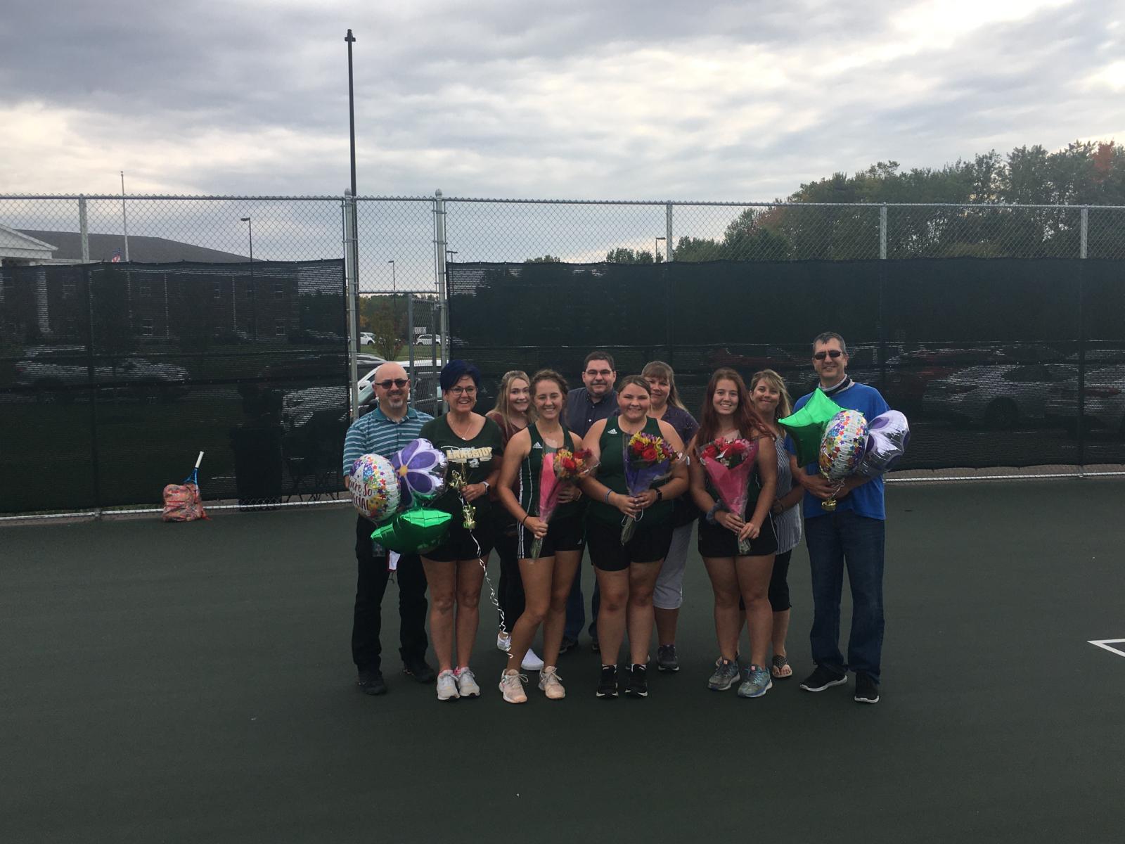 Girls Tennis Wins Senior Night Thriller