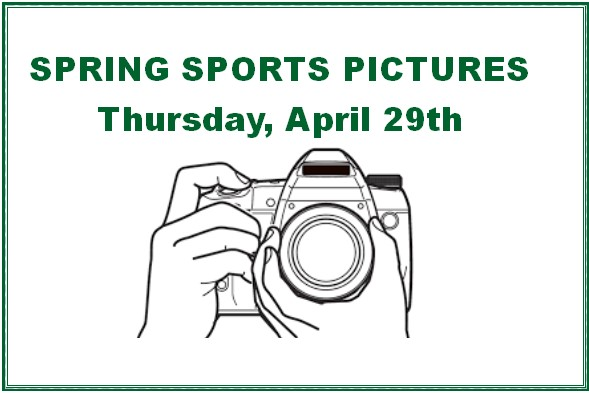 SPRING SPORTS PICTURES – APRIL, 29th LHS MAIN GYM