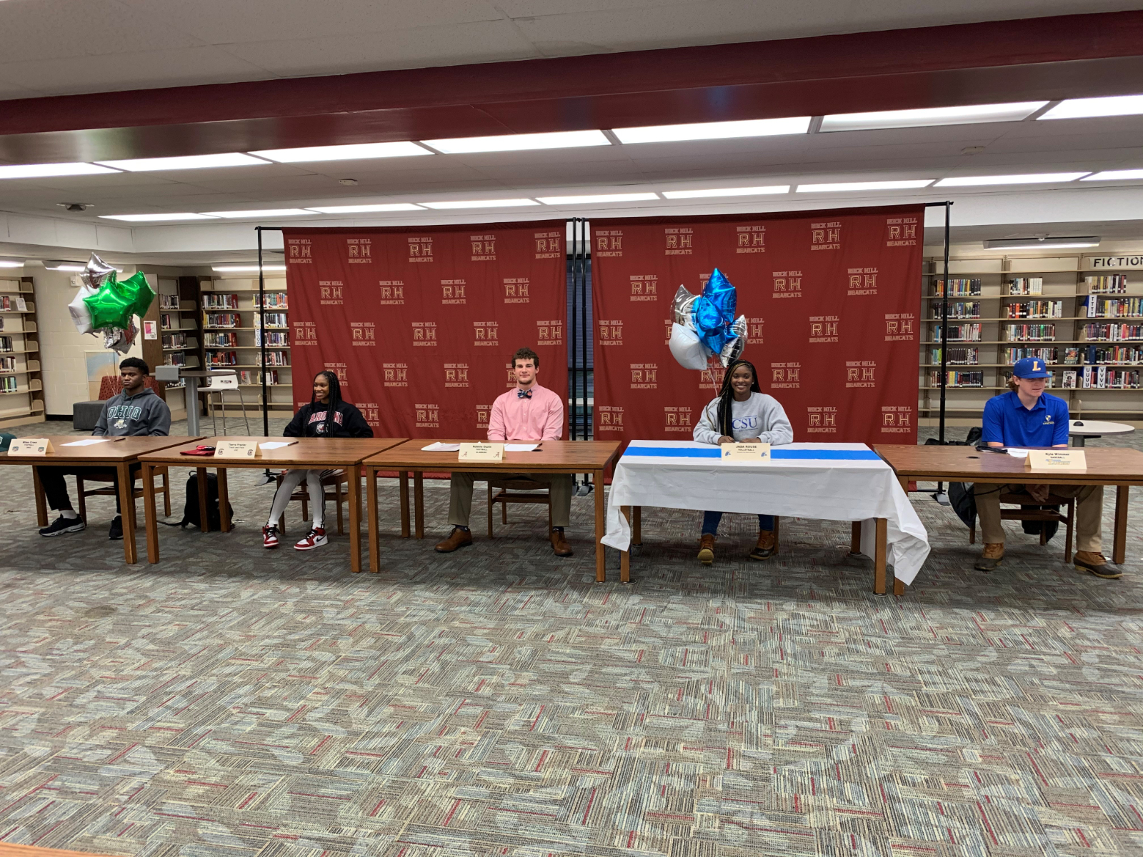 Six RHHS Athletes Sign NLI to Play at Next Level