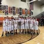 Boys Varsity Basketball beats Strasburg-Franklin 58 – 48