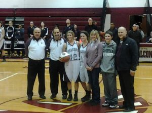GIRLS BASKETBALL PARENTS NIGHT – ALEX SORGI CELEBRATION! (1/27/15)