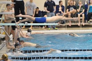 FALCON MEN'S SWIM TEAM COMPETES IN COUNTY MEET!