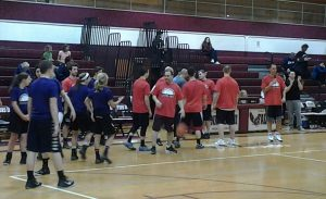 ST. HTS P.D. & FIRE BATTLE FORD STUDENTS – TEACHERS & ADMIN ON THE COURT IN THE COPPERBOWL 2015!