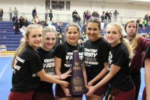 VARSITY Competitive Cheer takes 1st at Oxford – 1/9/16