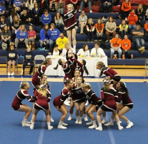 JV Competitive Cheer takes 3rd at Oxford – 1/9/16!